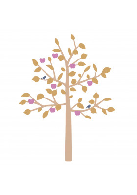 STICKER GEANT - BIG APPLE TREE MOUTARDE