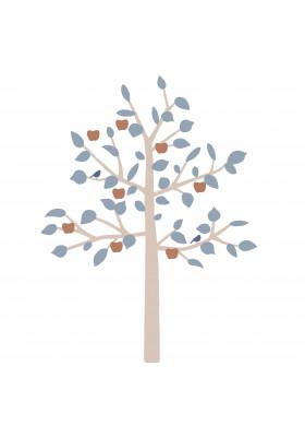 GIANT STICKER - BIG APPLE TREE BLUE