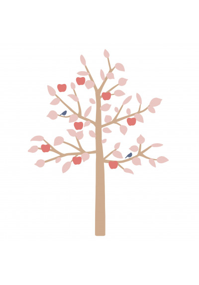 STICKER GEANT - BIG APPLE TREE BLEU