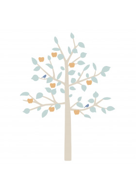 GIANT STICKER - BIG APPLE TREE BABY BLUE
