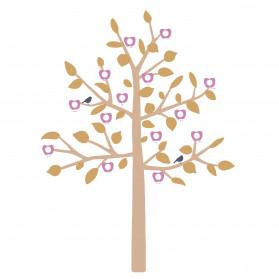GIANT STICKER - BIG FAMILY TREE MUSTARD