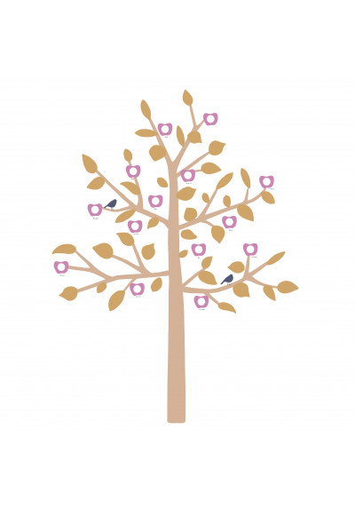 GIANT STICKER - FAMILY TREE MUSTARD