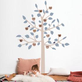 STICKER GEANT - BIG FAMILY TREE BLEU
