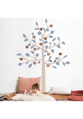 STICKER GEANT - FAMILY TREE BLEU