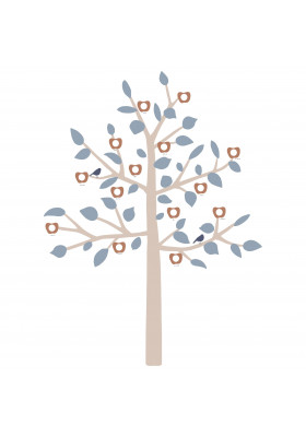 GIANT STICKER - FAMILY TREE BLUE