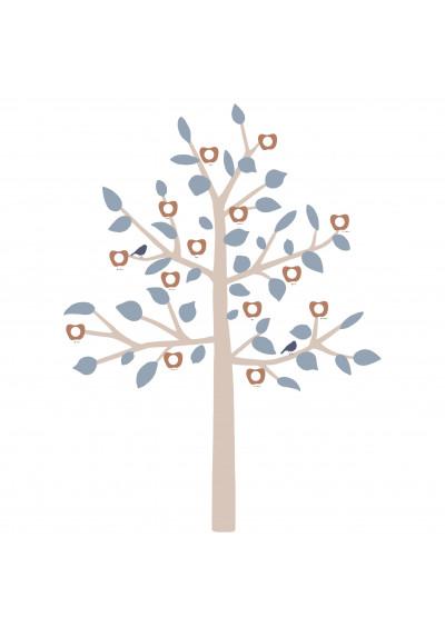 GIANT STICKER - FAMILY TREE BLUE