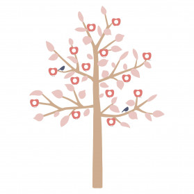GIANT STICKER - BIG FAMILY TREE PINK