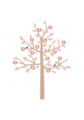 STICKER GEANT - FAMILY TREE ROSE