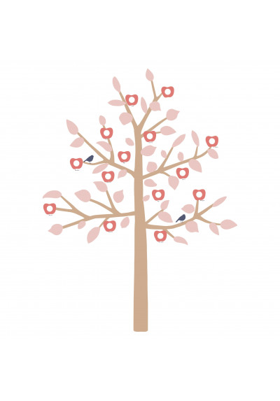 GIANT STICKER - FAMILY TREE PINK