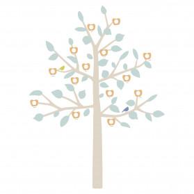 STICKER GEANT - FAMILY TREE bébé bleu