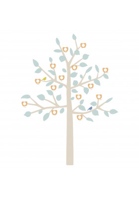GIANT STICKER - BIG FAMILY TREE LIBERTY BABY BLUE