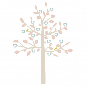 GIANT STICKER - BIG FAMILY TREE LIBERTY BABY PINK