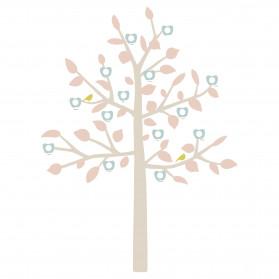 STICKER GEANT - BIG FAMILY TREE bébé rose