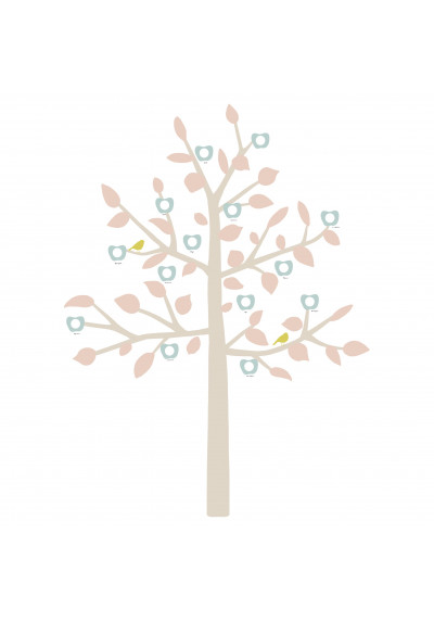 GIANT STICKER - FAMILY TREE LIBERTY BABY PINK