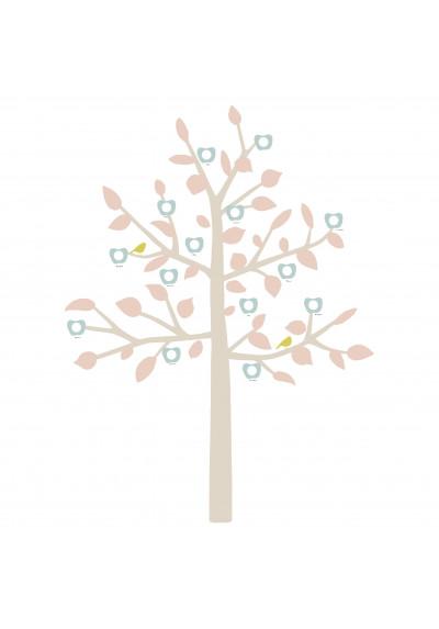 STICKER GEANT - FAMILY TREE bébé rose