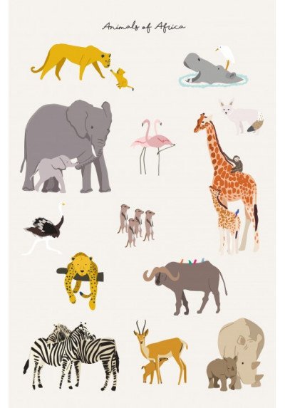 Affiche - animals of Africa