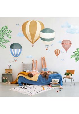 Giant sticker - Watercolour balloons
