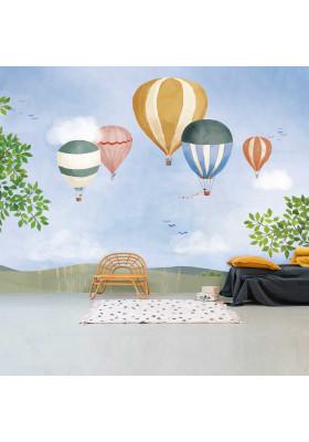 Papier peint XL - Montgolfière aquarelle
